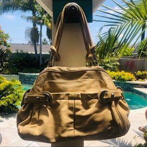 B Makowsky tan handbag